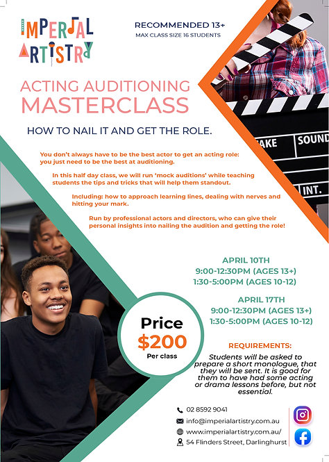 Acting Auditioning Masterclass