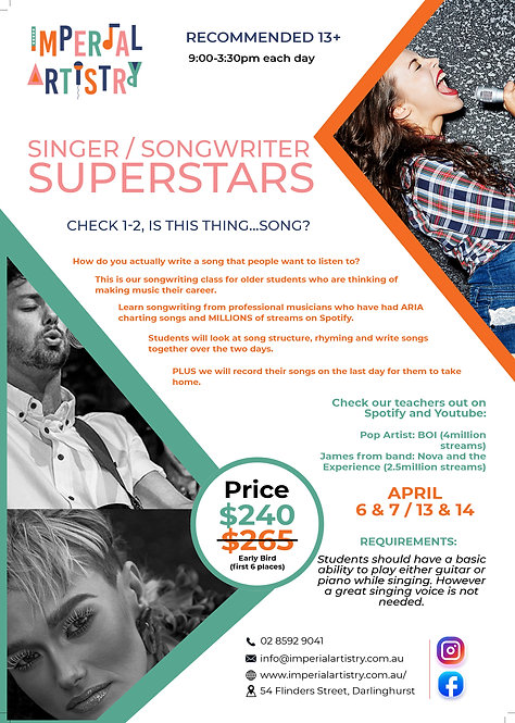 Singer / Songwriter Superstars
