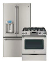a GE Refrigerator freezer combo and a range