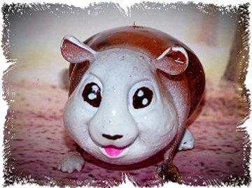 Cochon d'inde cartoon's fauve 5 cm