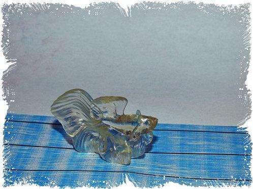 poisson combattant transparent 5 cm