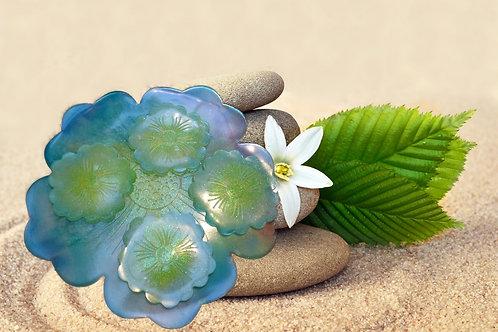 Plateau + 4 sous verres fleurs à personnaliser à votre goût
