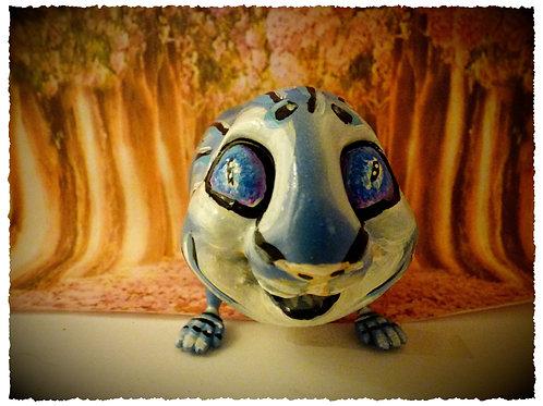 Cochon d'inde thème féerique bleu 12 cm