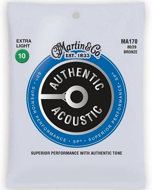 MARTIN MA170 Autentic SP chitarra acustica Extra Light 10-47