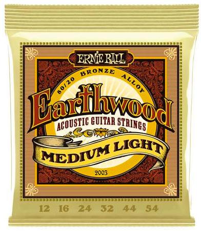 ERNIE BALL Earthwood 2003 chitarra acustica Medium Light 12-54