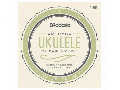 D'ADDARIO EJ65S Clear Nylon corde ukulele soprano