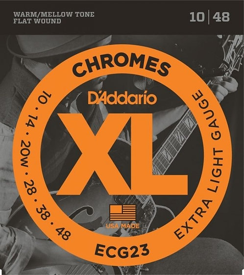 D'ADDARIO Chromes ECG23 10/48 Flat wound