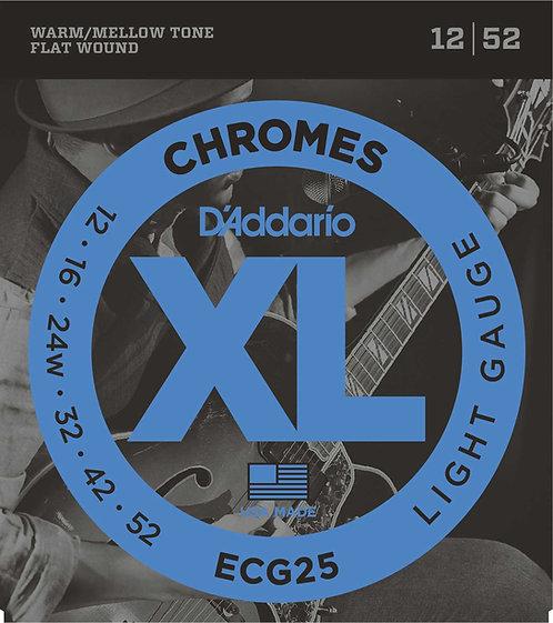 D'ADDARIO Chromes ECG25 12/52 Flat wound
