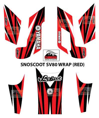 SNOSCOOT SV80 DECAL WRAP RED