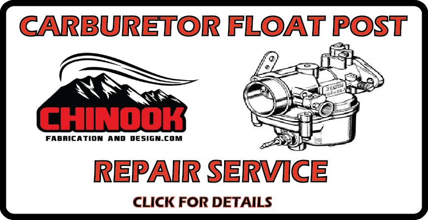 Chinook Fabrication and Design Carburetor Float Post Repair