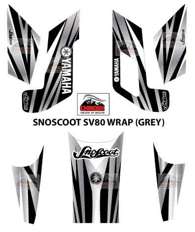 SNOSCOOT SV80 DECAL WRAP GREY