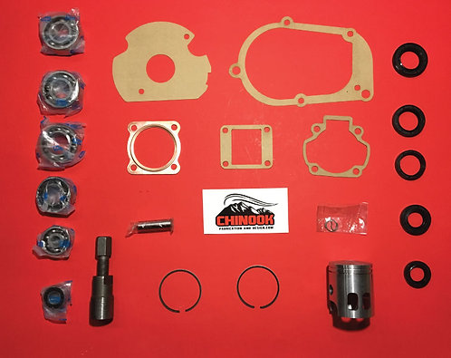 SnoScoot SV80 MASTER OVERHAUL Rebuild Kit STANDARD size Piston