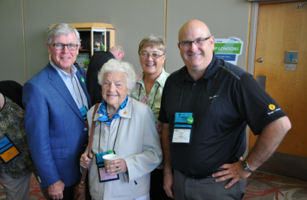 Kevin with Mayor McCallion