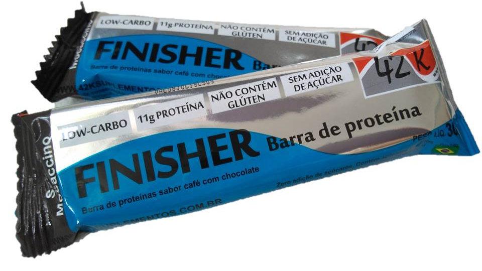 FINISHER low carbo whey bar sabor Mocaccino (caixa 20 unidades de 30g cada)