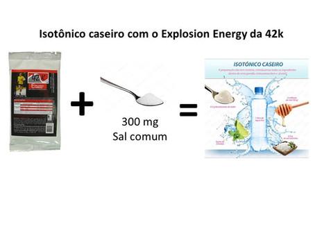 Como fazer um isotônico caseiro com o Explosion Energy da 42k suplementos?