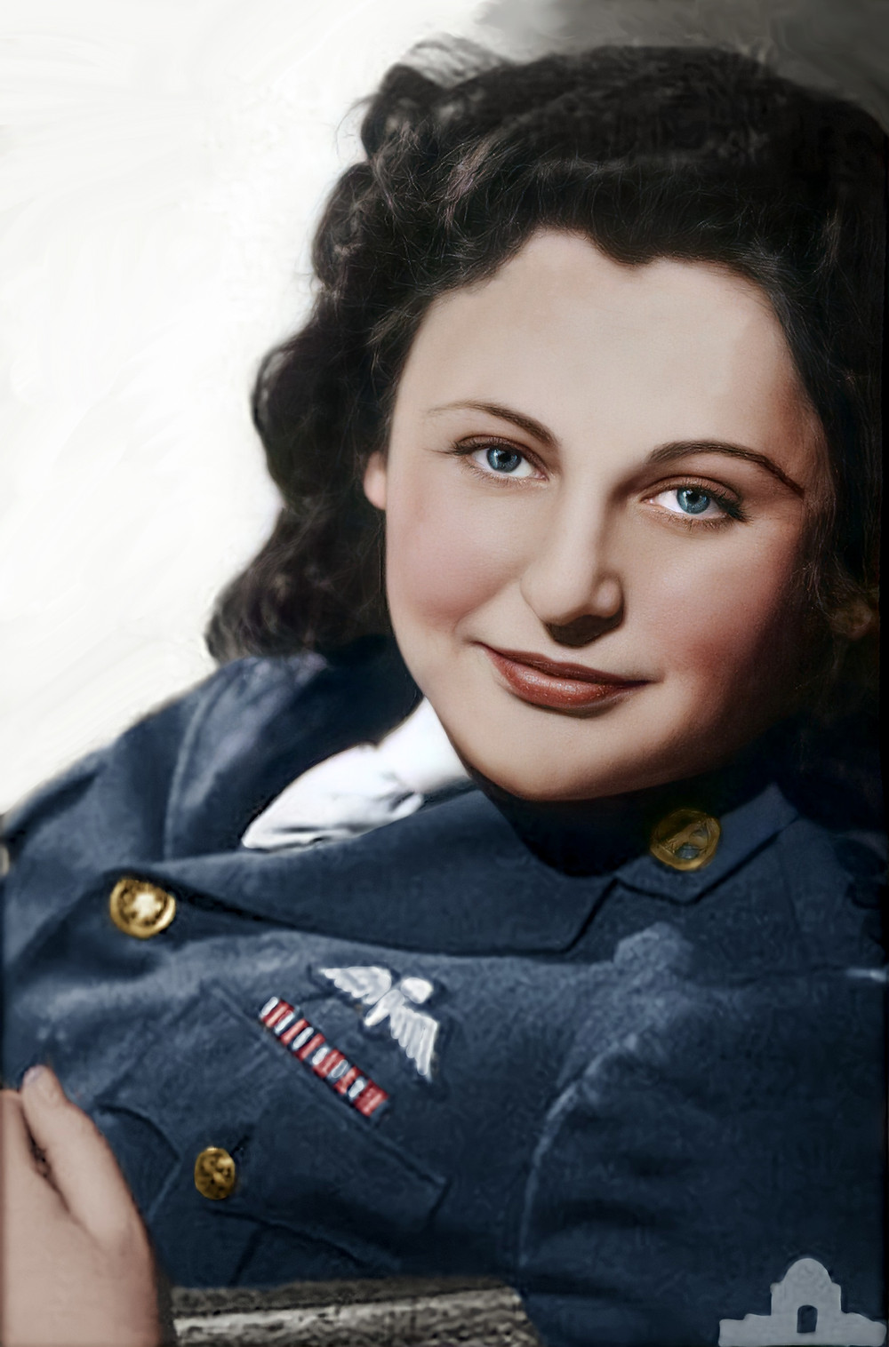 Nancy Wake - Colorization by Claudia D'Souza, the Photo Alchemist