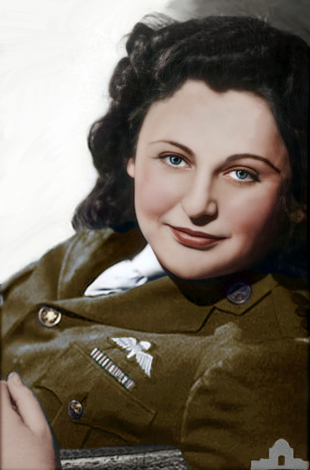 Nancy Wake - Colorization by Claudia D'Souza, the Photo Alchemist