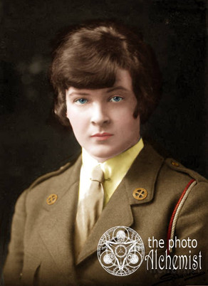 Colorizing Remarkable Women - Mary O'Connell Bianconi, Irish Beauty and Ambulance Driver in WW1