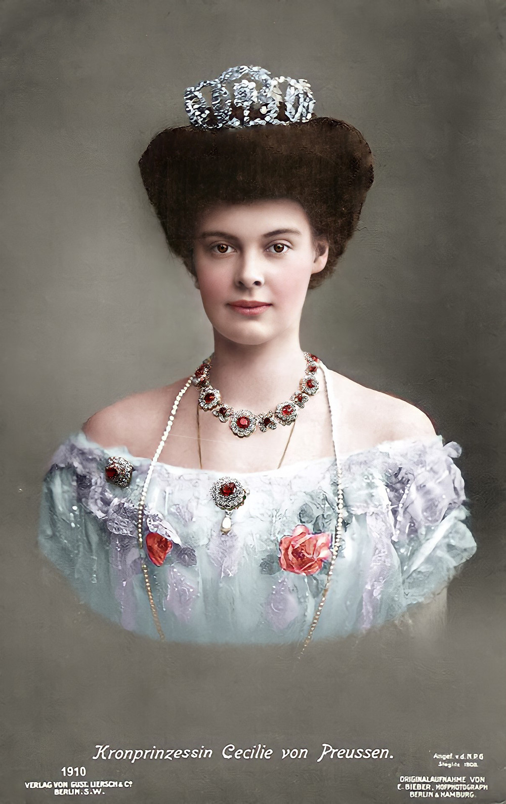 Duchess Cecilie of Mecklenburg-Schwerin - Colorization by Claudia D'Souza