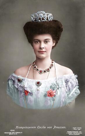 Duchess Cecilie of Mecklenburg-Schwerin - Crown Princess of Prussia