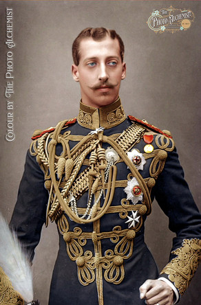 Portrait colourisation of Prince Albert Victor, Duke of Clarence and Avondale