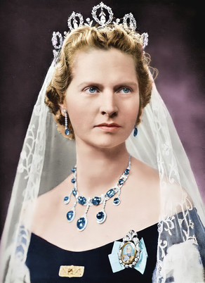 Colorizing the Crown Jewels - Princess Sibylla of Saxe-Coburg & Gotha, mother of the King of Sweden