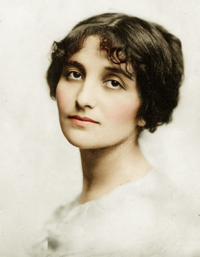 Colorizing Remarkable Women - Dora Gabe, Bulgarian Poet & first Jew elected the National Assembly