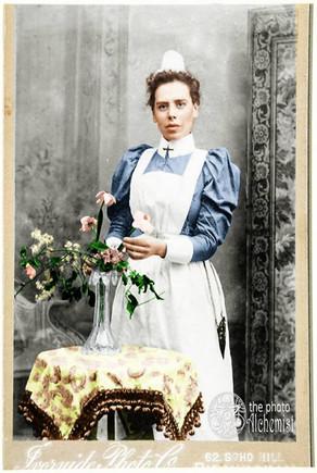 Colorizing Remarkable Women - Nurse Katy Beaufoy, Sister & Matron, killed in WW1