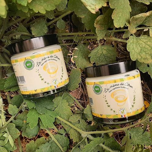 Soin hydratant bio à la crème de citron