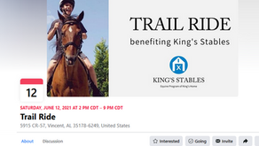 Benefit Ride for King's Stables, an Equine Therapy Program - June 2021