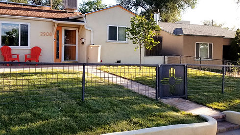 custom residential fence and gate
