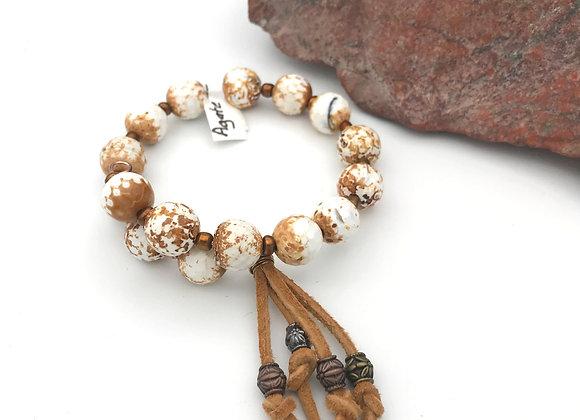 Faceted Agate Bracelet