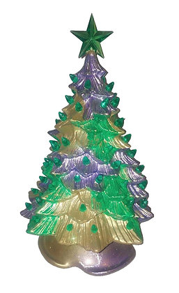 Mardi Gras Christmas Tree with Bulbs - Finished