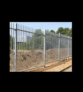 commercial silver metal fence