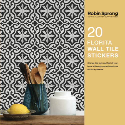 20 Florita Wall Tile Stickers