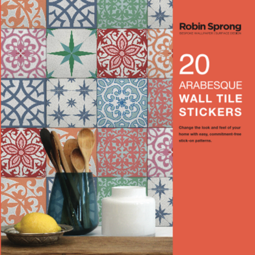 20 Arabesque Wall Tile Stickers
