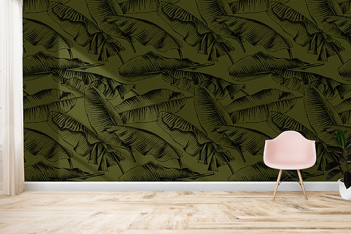 TROPICAL SAFARI | Banana Leaves Khaki
