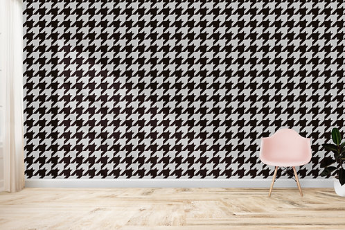 GEO FLORAL | Houndstooth Mono