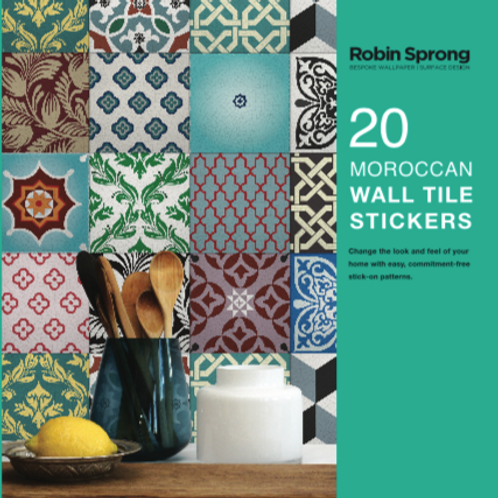 20 Moroccan Wall Tile Stickers