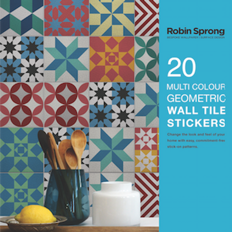 20 Mulit Colour Geometric Wall Tile Stickers