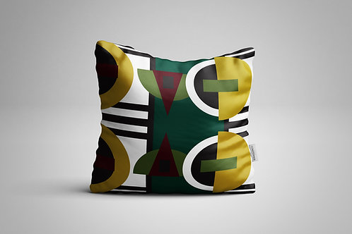 Xhosa Pattern | Yellow and Green 60 x 60 cm