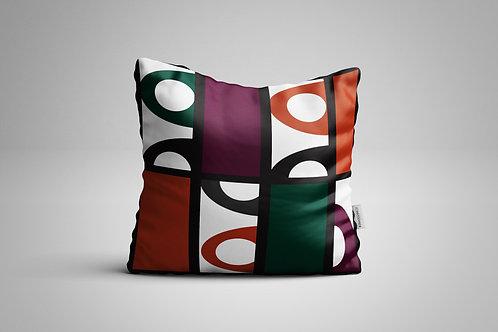 Morocco Pattern   Orange and Plum