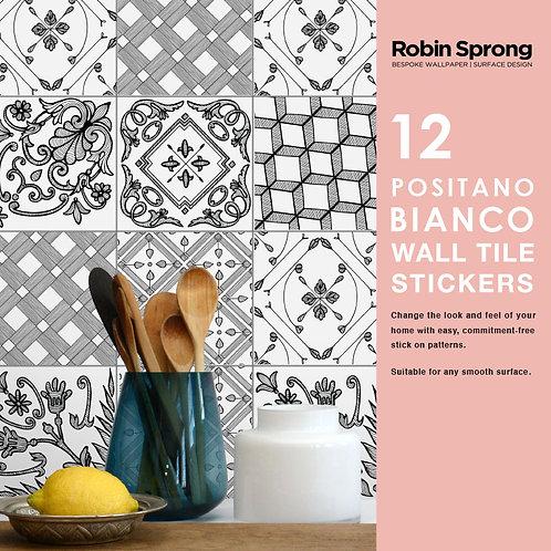 Positano Bianco Wall Tile Stickers