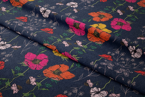 IN BLOOM   Navy Red Pink
