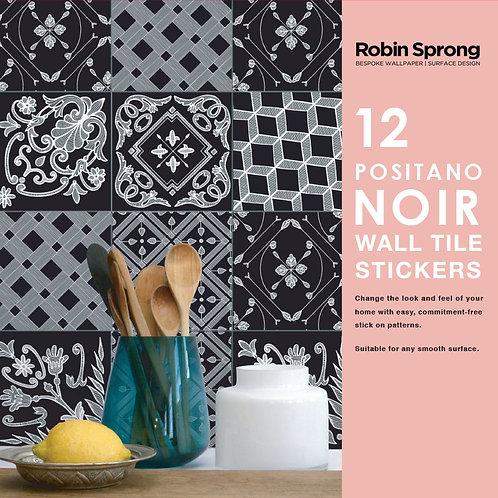 Positano Noir Wall Tile Stickers