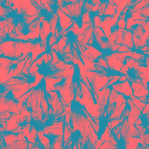 SPLATTER | Teal on Coral
