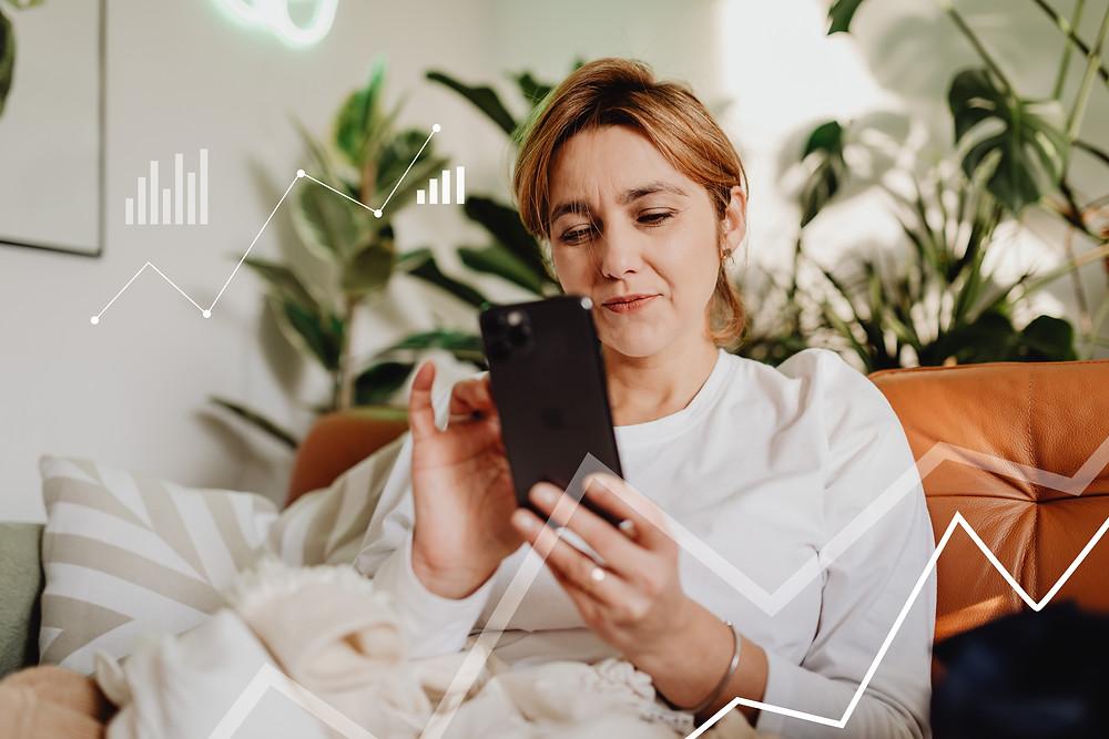 Female Entrepreneur working from her phone