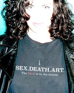"""2016 """"Sex. Death. Art."""" t-shirt"""