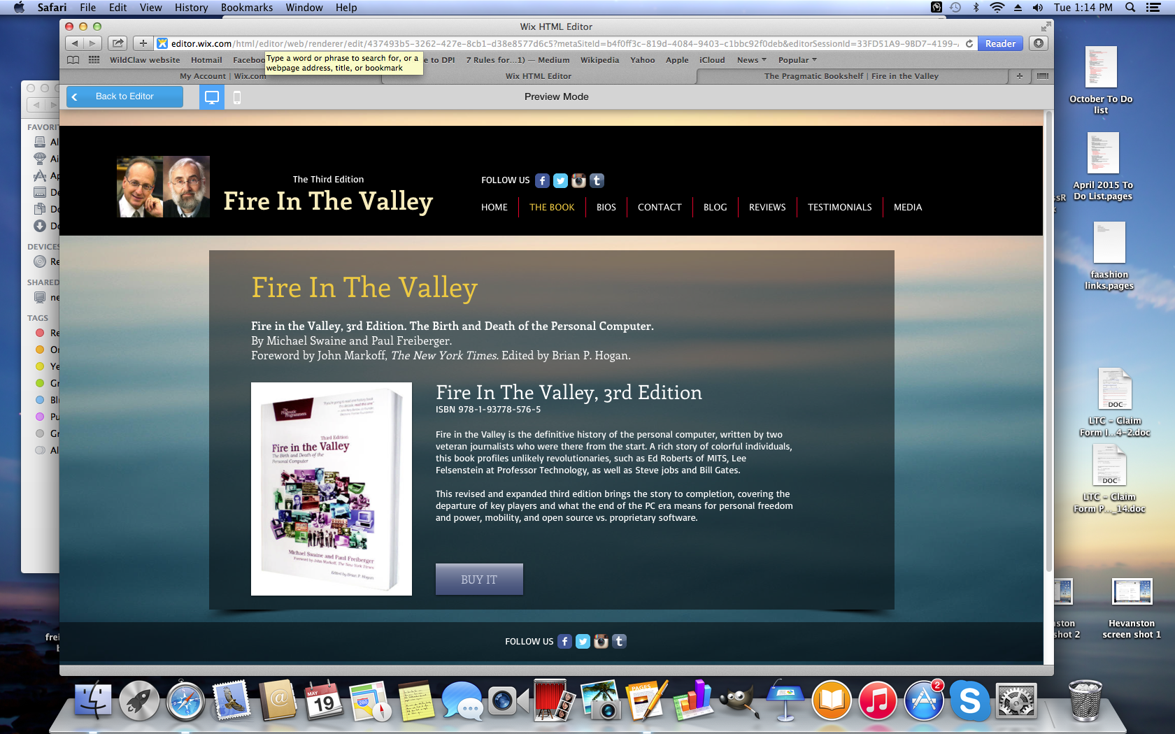 Fire in the Valley book