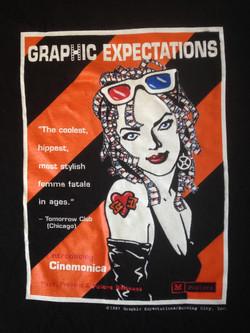 Cinemonica t-shirt closeup